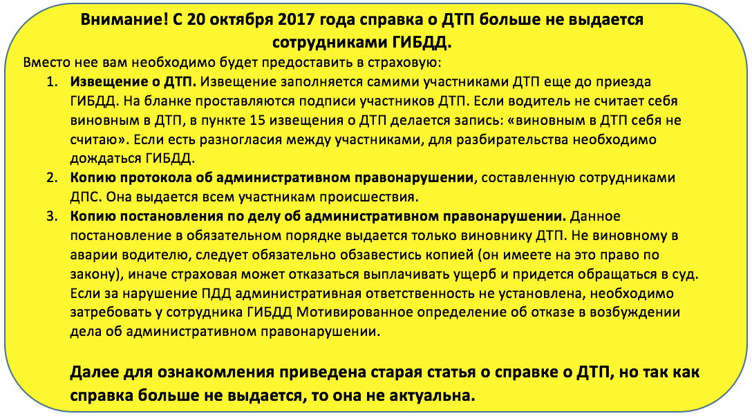 Постановление о ДТП срок выдачи